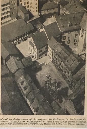 """""""Basler Woche""""-Zeitung über das Bauprojekt eines Solebades auf dem hinteren Andreasplatz im Jahr 1970"""