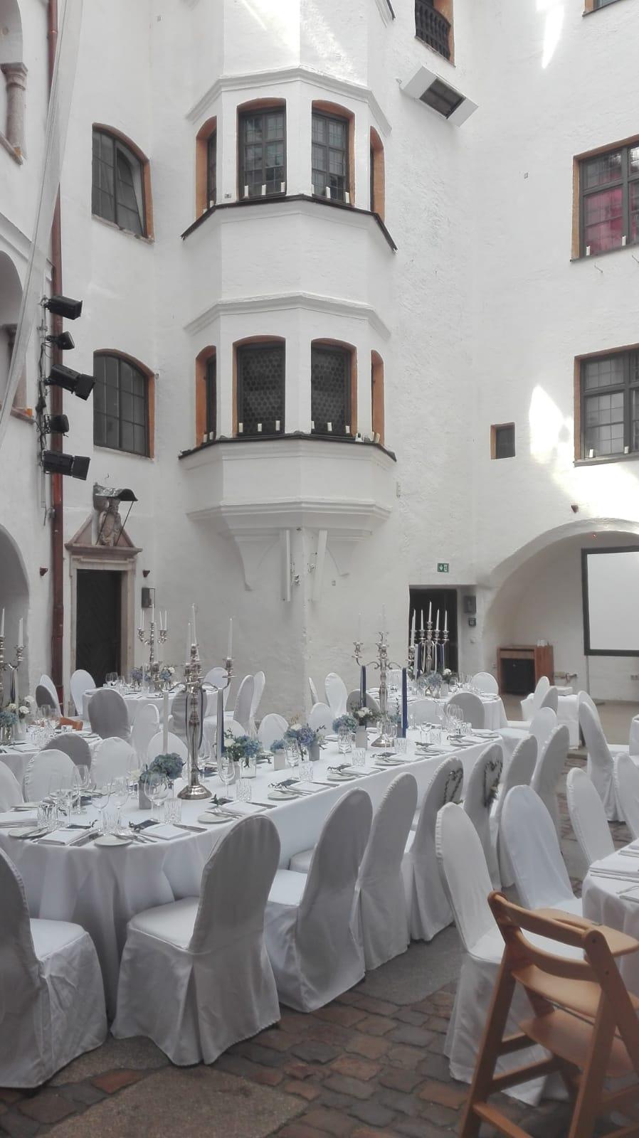 Der Festsaal im Schloss Amerang