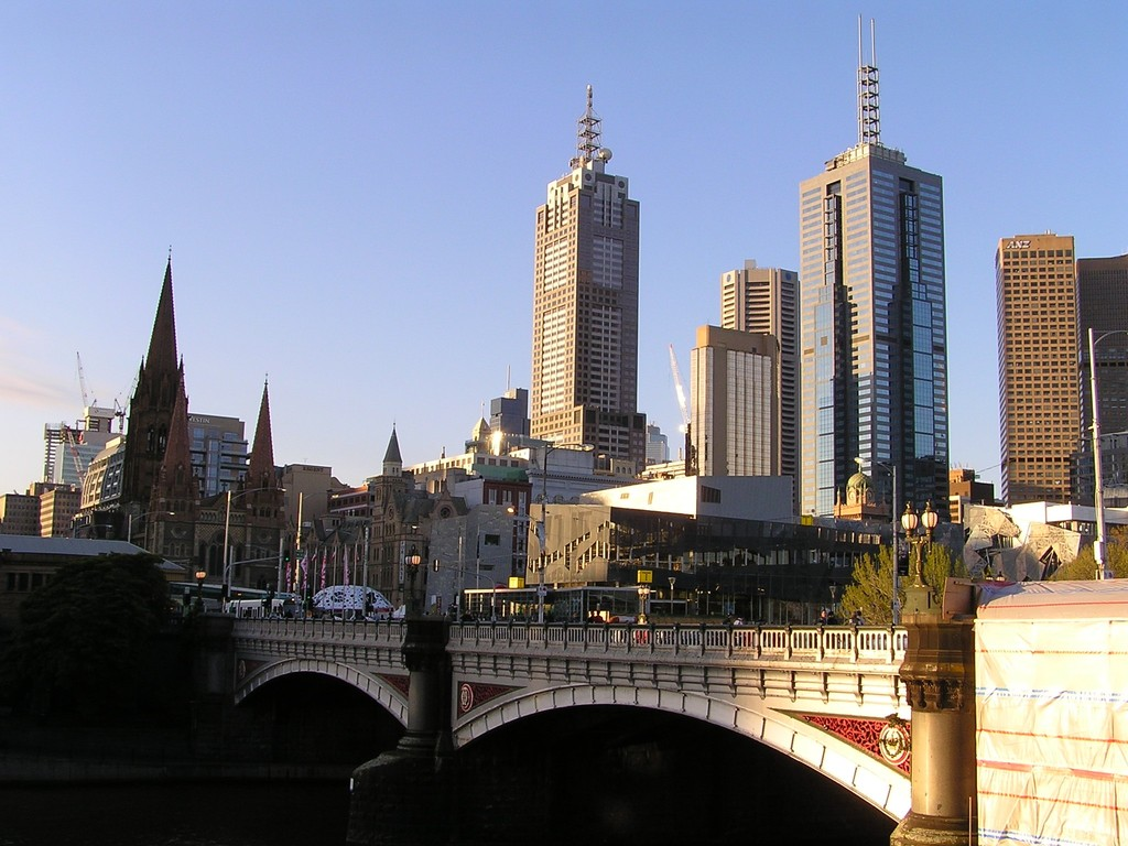 Princes Bridge and city