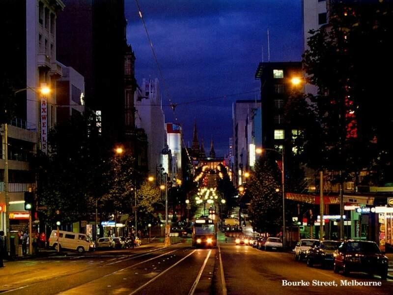 Bourke Street - looking eastward