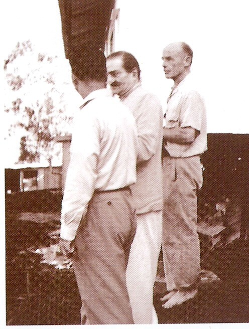 Francis with Meher Baba and Eruch - Avatar's Abode