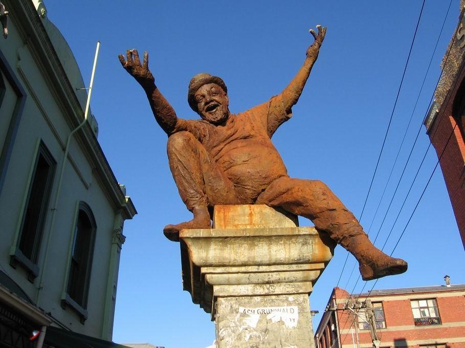 Poet Statue ( Adrian ) in Brunswick Street Fitzroy, Melbourne