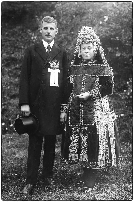 Das Brautpaar Luise u. Friedrich Dern im Jahre 1923