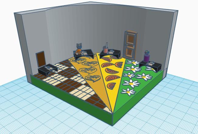 3-d модель зала