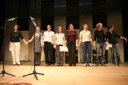 Beim Autorinnenforum Berlin-Rheinsberg 2007