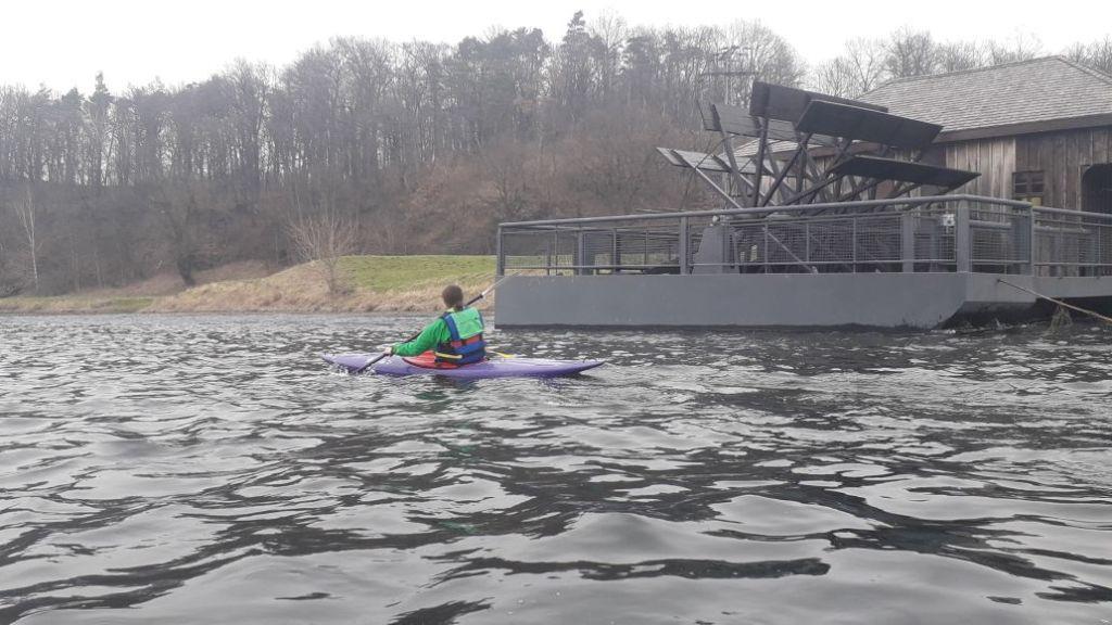 Richtung Grimma vorbei an der Schiffsmühle setzte dann ein etwas starker Gegenwind ein.