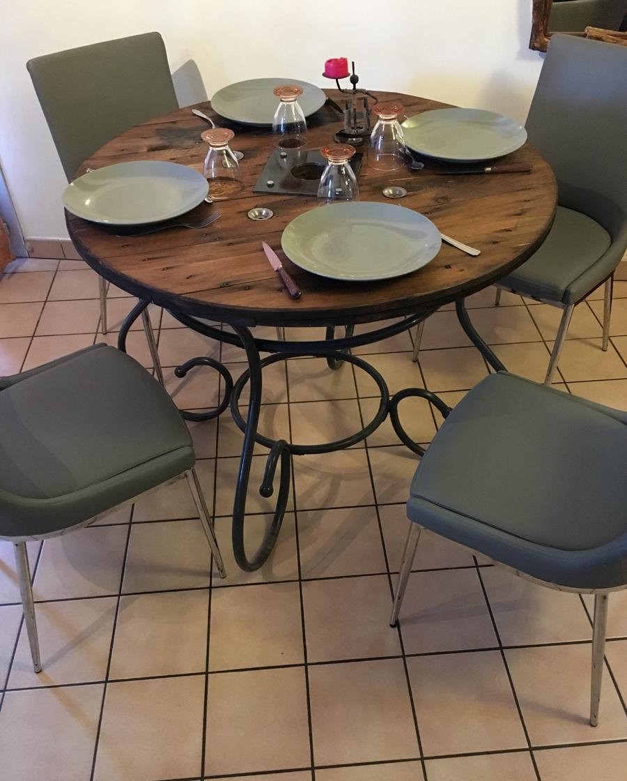 Les tables tourets - Site de mafabrikabois !