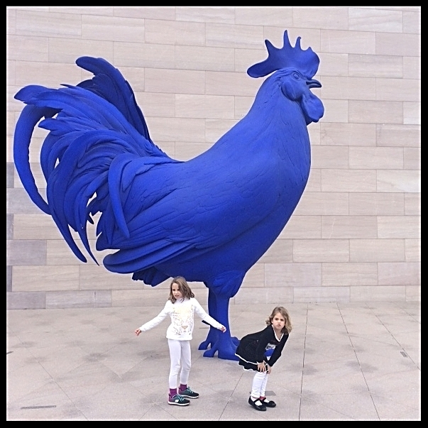 "(""Hahn/Cock"") by German sculptor Katharina Fritsch"