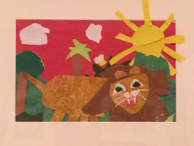 The Courageous Lion by Leah, Age 6