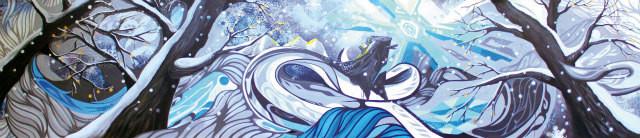 日本テレビ「のどじまんザワールド」2013年冬ver. 番組セットパネル画  Collaboration with Yusei Sagawa, w5400xH1200mm