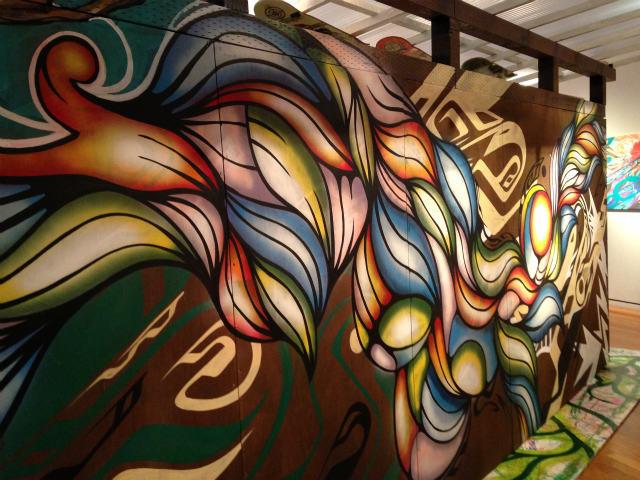 夏の福袋 輪派絵師団展 小屋の外壁一部 Artwork by Xola