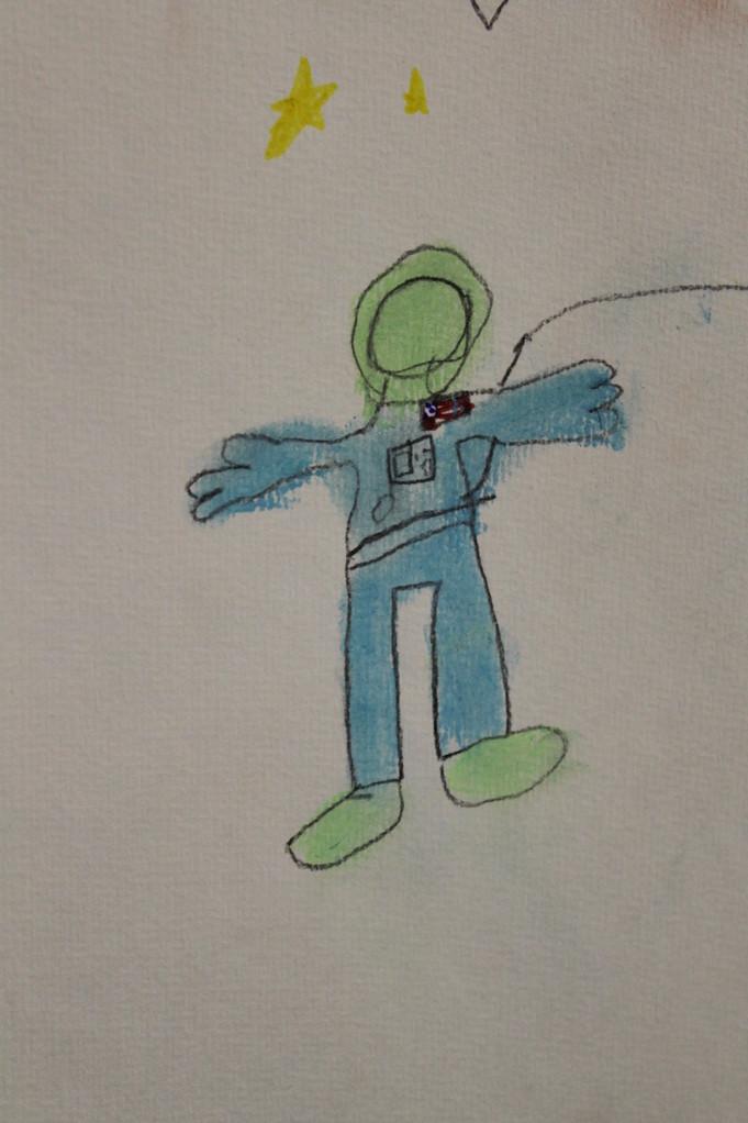 Astronaut, Kinderzeichnung