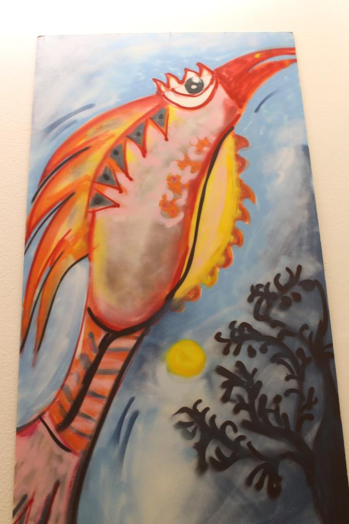 Spraybild 'Fliegenfisch'
