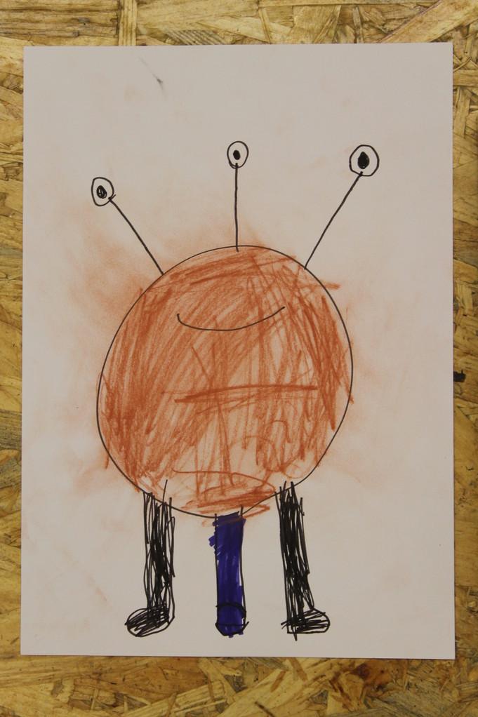 Alien Kinderzeichnung