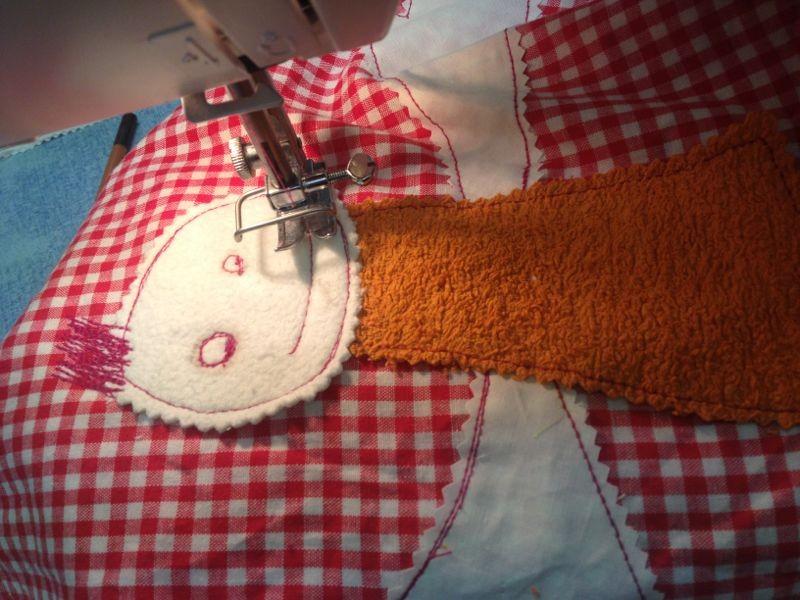 Kunstprojekte mit der Nähmaschine