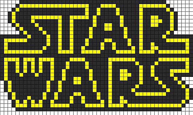 Spielwaren-Kröll - Hama - Vorlage - Star Wars-Schriftzug