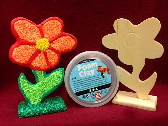 Spielwaren-Kroell, Wolkenschleim, Foam Clay, Holz, Blume, Bastelideen