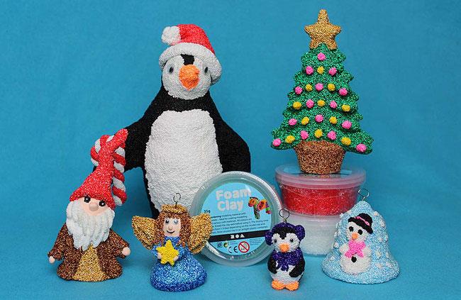 Foam Clay, Wolkenschleim, basteln mit Kindern, Bastelideen, Weihnachten