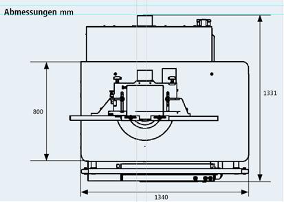 Schwenk-Fräsmaschine medio