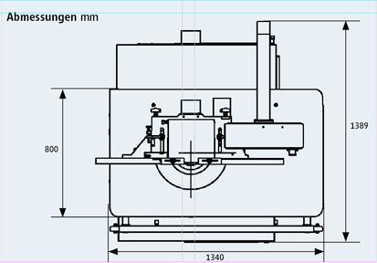 Fräsmaschine Ultimo technische Zeichnung