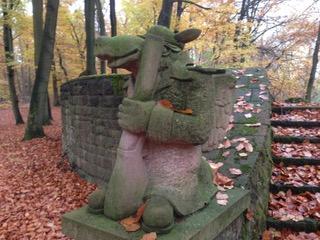 seltsame Tiere im Stadtwald