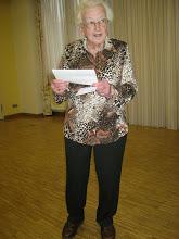 Vorsitzende Ilse Steinhäußer beim Vortag ihres Rechenschaftsberichtes
