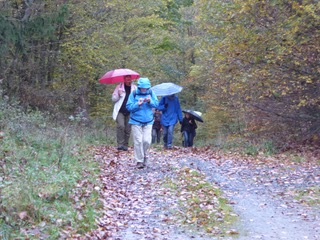 Im Regen auf der Bergmannsroute bergan