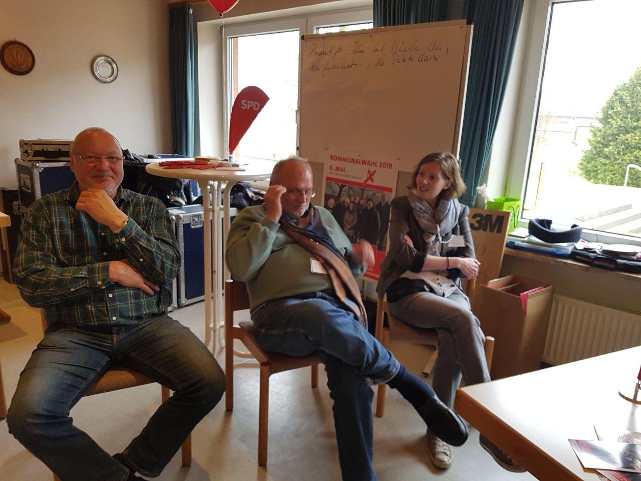 Wolfgang Schwabel, Friedrich-Eugen Bukow, Loretta Fokuhl