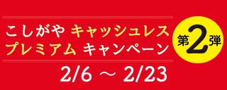 こしがやキャッシュレスプレミアムキャンペーン第2弾!
