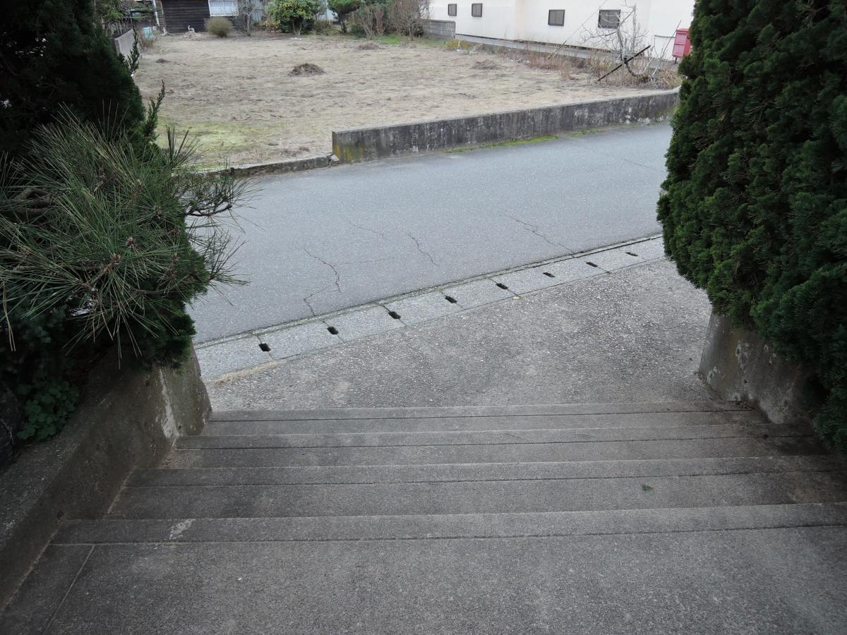 施工前 玄関アプローチ階段