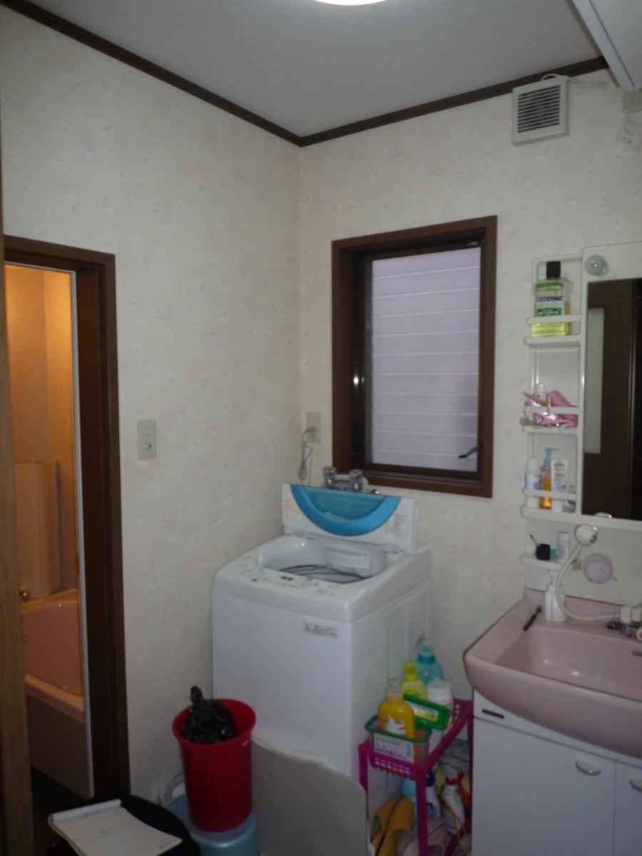 施工前 洗面脱衣室