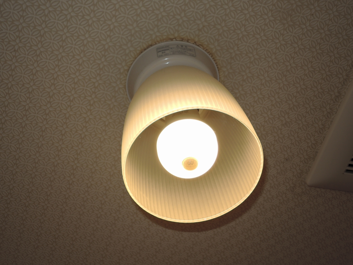 施工後 人感センサー付ライト