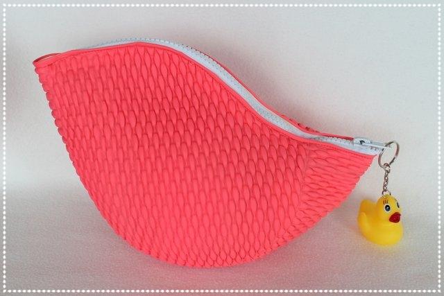 Badekappentasche pink