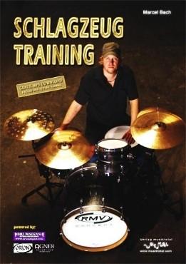 Marcel Bach - Schlagzeug Training (2010) / dieses Buch bietet Lehrstoff für fortgeschrittene Drummer und knüpft da an wo Einsteigerbücher aufhören / inklusive 12 Play-Alongs
