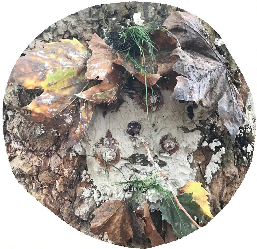 natürliches Gestalten mit Ton ... Baumgeister im Park