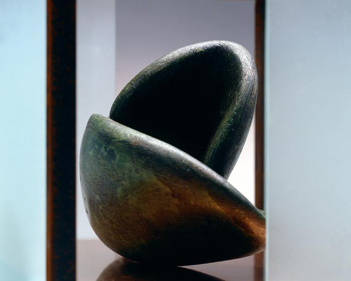 Modulo 5  das den Wal beschützt  2008, 26 x 38 x 21 cm,  ferro, cera, vetro