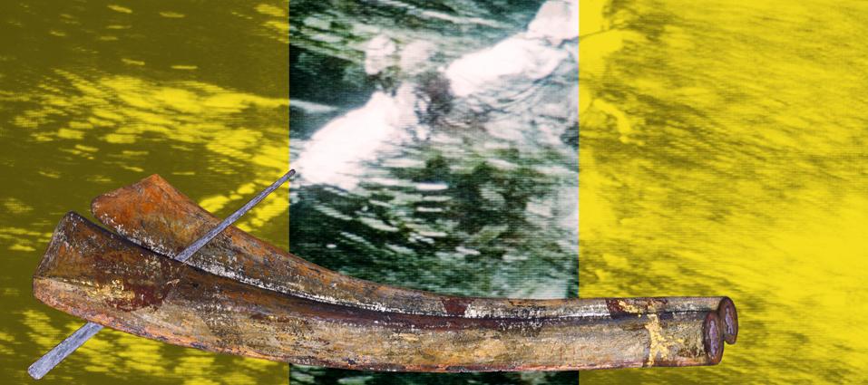 """Zwischen zwei Flügeln  2006, grandezza variabile,  mixmedia,  Immagine 6 dalla serie """"Tiger und Drachen"""""""