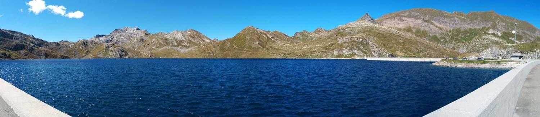 Sulla diga del lago del Narèt