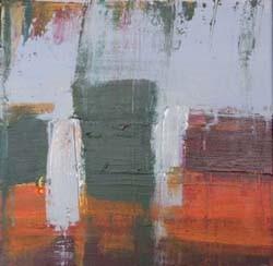 groengrijs, 30 x 30 cm acryl op doek