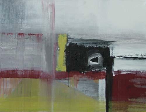 zwarte keet, 120 x 90 cm acryl op doek