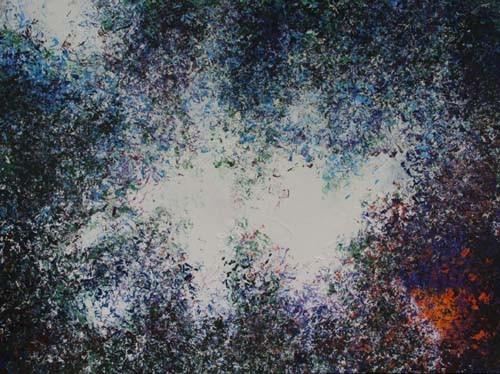 plas, 120 x 90 cm acryl op linnen