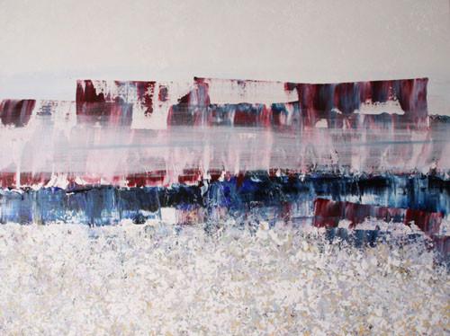een lange winter, 120 x 90 cm acryl op linnen - uitgeleend