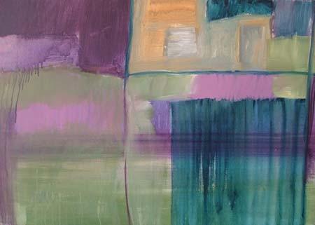 kavels, 100 x 70 cm acryl op doek