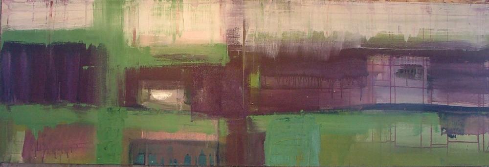 grofmazig 2, 180 x 60 cm acryl op doek
