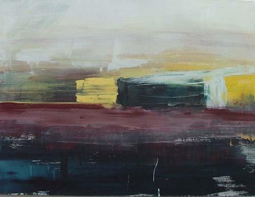 schuur, 120 x 90 cm acryl op doek - verkocht