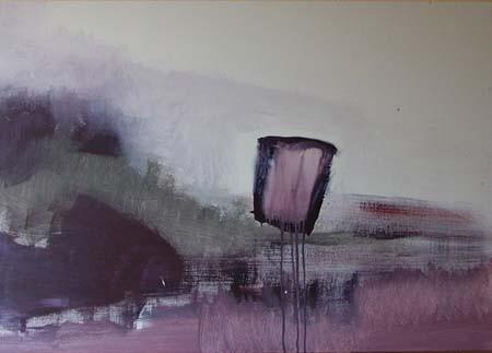 paars element, 100 x 70 cm acryl op doek