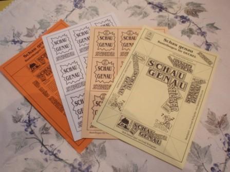 Bastelbögen für Karten und Spieleschachtel