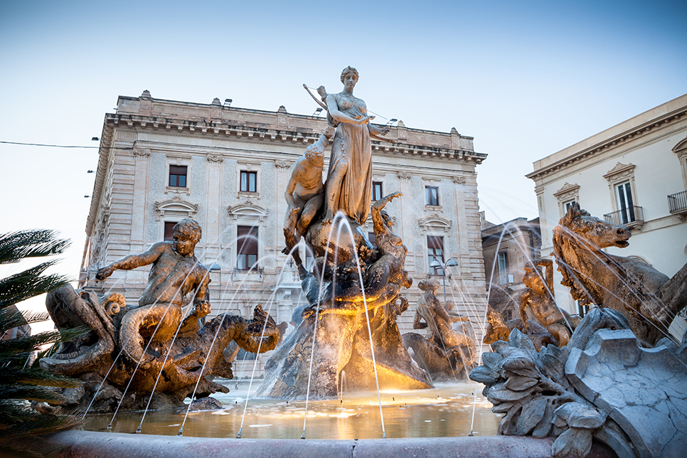 Siracusa, Diana Brunnen