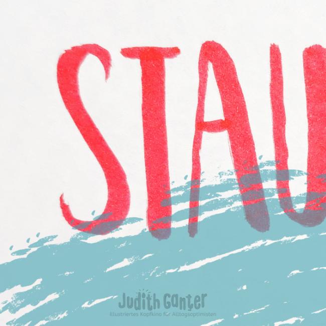 LEBENSFREUDE SPÜREN   KANN MAN STAUNEN LERNEN?  staunen lernen - achtsamkeit ideen - lebensfreude spüren - Wahrnehmungstraining - Achtsamkeit - Reflexionsfragen & Gedankenanstöße - Kreativ Nachdenken - Achtsamkeistagebuch    Judith Ganter Illustration H