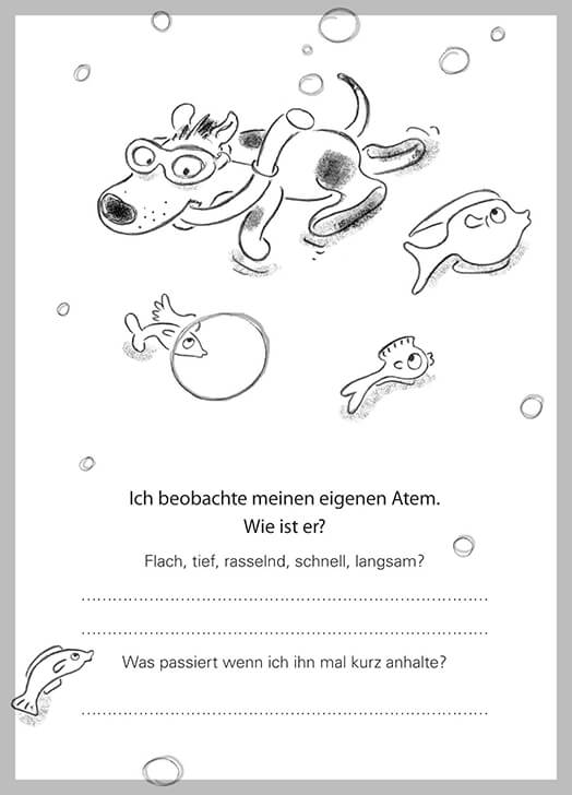 MOMENT MAL! - ALLTAGSTROTTVERTREIBER! HASE HUND IGEL - Illustration & Text Judith Ganter, Hamburg - Verlag Rannenberg & Friends, Geschenke Achtsamkeit, Geschenkartikel